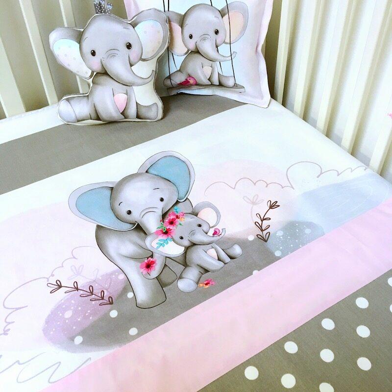 ensemble-literie-bebe-fille-elephants-rose