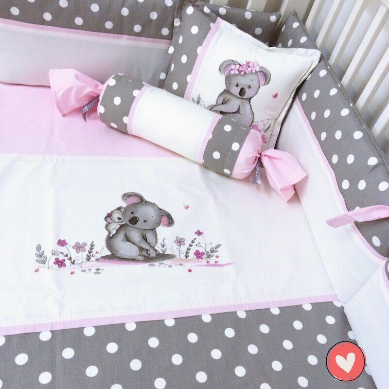 literie-bebe-fille-koala-rose